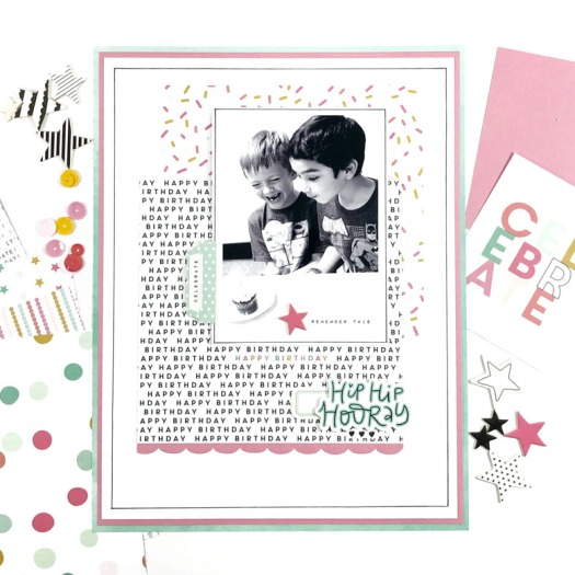 Hip Hip Hooray Birthday Layout 5